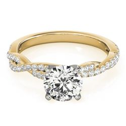 0.75 CTW Certified VS/SI Diamond Solitaire Ring 18K Yellow Gold - REF-112Y4N - 27845