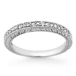 0.20 CTW Certified VS/SI Diamond Ring 18K White Gold - REF-41T8X - 13654