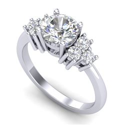 1.5 CTW VS/SI Diamond Solitaire Ring 18K White Gold - REF-409H3W - 36938