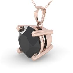 1.50 CTW Black Diamond Designer Necklace 14K Rose Gold - REF-49F5M - 38424
