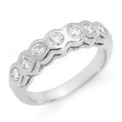 0.50 CTW Certified VS/SI Diamond Ring 14K White Gold - REF-60K2R - 11608