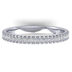 0.75 CTW Certified VS/SI Diamond Eternity Band Ring 14K White Gold - REF-53T3X - 30264