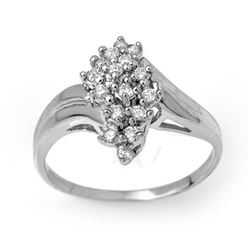 0.25 CTW Certified VS/SI Diamond Ring 14K White Gold - REF-33M3F - 14290