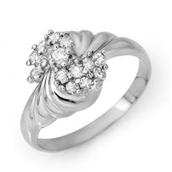 0.25 CTW Certified VS/SI Diamond Ring 18K White Gold - REF-46K2R - 14328