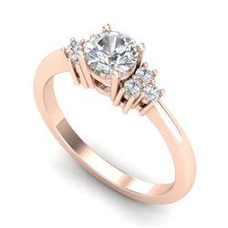 0.75 CTW VS/SI Diamond Ring 18K Rose Gold - REF-131X3T - 36933