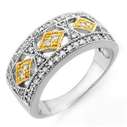 0.50 CTW Certified VS/SI Diamond Ring 10K 2-Tone Gold - REF-45K6R - 11695