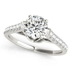 1 CTW Certified VS/SI Diamond Solitaire Ring 18K White Gold - REF-128F5M - 27567