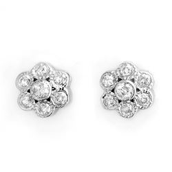 0.50 CTW Certified VS/SI Diamond Earrings 14K White Gold - REF-40T9X - 10671