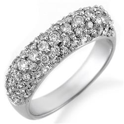 1.25 CTW Certified VS/SI Diamond Ring 18K White Gold - REF-108W2H - 10556