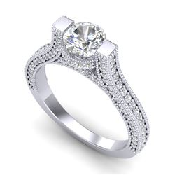 2 CTW VS/SI Diamond Micro Pave Ring 18K White Gold - REF-290K9R - 36947