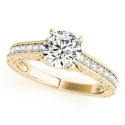 1.07 CTW Certified VS/SI Diamond Solitaire Ring 18K Yellow Gold - REF-200F5M - 27557