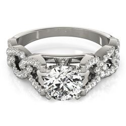 1.5 CTW Certified VS/SI Diamond Solitaire Ring 18K White Gold - REF-397H8W - 27837