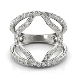 0.75 CTW Certified VS/SI Diamond Designer Fashion Ring 18K White Gold - REF-94Y9N - 28274