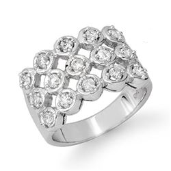 1.0 CTW Certified VS/SI Diamond Ring 14K White Gold - REF-99K3R - 14047