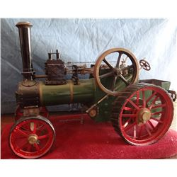 "Toy steam engine tractor, 11"" h x 16"" w, very old"