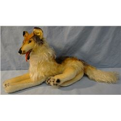"Steiff collie dog, 12"" h"