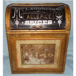 McLaughlin Allspice tin, 11' h
