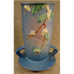 "Snowberry blue vase, #1V1-8"", 1946, mint"