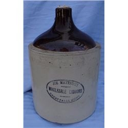 Joe Matteucci, Great Falls, MT 2 gal jug, near mint