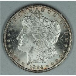 1884 CC Morgan dollar, MS64