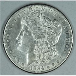 1884 S Morgan dollar, AU55