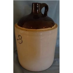 Red Wing 3 gal brown top jug, unmarked