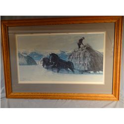"Smith, Tucker, Winter Chores, 16"" x 28"", framed, #656/850"