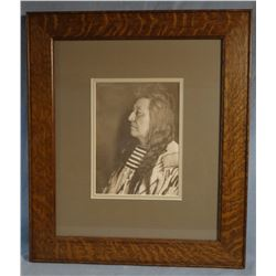 Throssel, Richard, original photo, Chief Plenty Coups, authenticated by Gene Allen