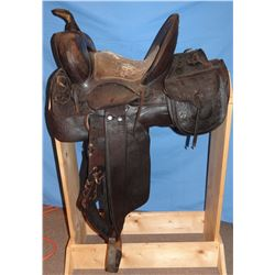 Otto Ernst highback saddle, 13""