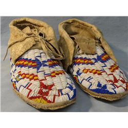 Plains Indian moccasins, adult size