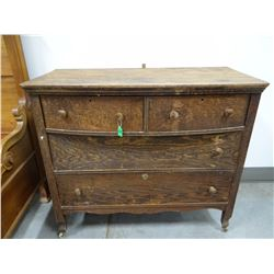 Oak dresser w/ mirror, restorable