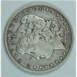 "1888 O Morgan dollar, VAM 4 ""Hot Lips"" F12"
