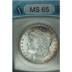 1897 Morgan dollar,ANACS MS65