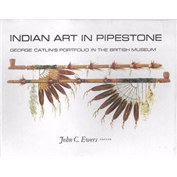 2 books: Indian Art in Pipestone - ed. by John Ewers, in 1979, Illust. 1st ed., hard cover in good c