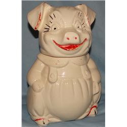 A. B. Co porcelain cookie jar