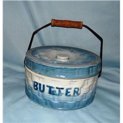 Butter crock w/lid and bail  handle