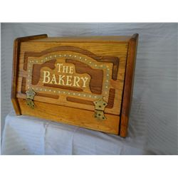 Pine bread box, fancy, early Americana