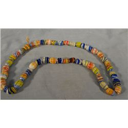 Indian chevron trade beads
