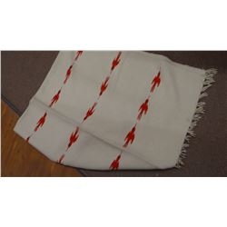Wool blanket, thunderbird designs