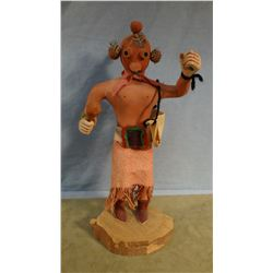 "Kachina Mud Head doll, 12"" t, some repairs"