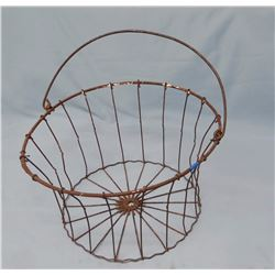 "Wire egg basket, 8"" diameter"