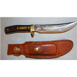"DU hunting knife by Schrade, 5"" blade"