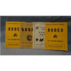 1948-1957 rodeo programs, White Sulphur Springs, MT