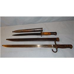2 military bayonets, 1 US, 1 foreign