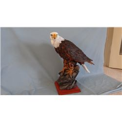Resin bald eagle sculpture, 21  h