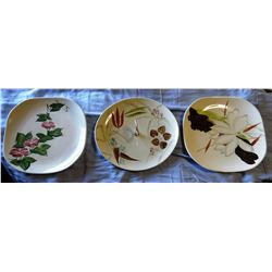 3 Red Wing dinner plates