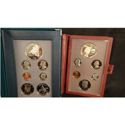 1995 Civil War prestige coin set and 1983 Olympics prestige coin set