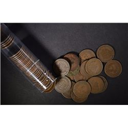 ROLL OF INDIAN CENTS ALL DATED 1897 & EARLIER