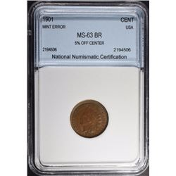 1901 INDIAN CENT NNC CH BU BR