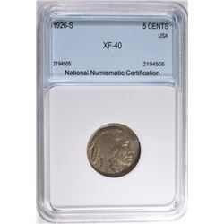 1926-S BUFFALO NICKEL NNC XF